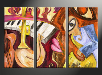 3 piece large pictures, home decor wall art, abstract canvas photography, colorful abstract oil paintings decor