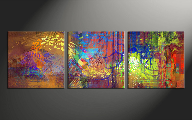 Abstract Oil Art Colorful