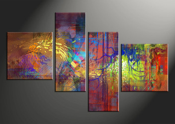 home decor,4 piece canvas wall art, colorful abstract photo canvas, abstract canvas photography, abstract oil paintings large pictures
