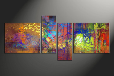 home decor,4 piece canvas wall art, abstract photo canvas, colorful abstract canvas photography, abstract oil paintings large canvas