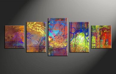 home decor art, 5 piece canvas wall art, abstract canvas photography, colorful abstract group canvas, abstract oil paintings pictures