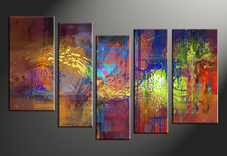 5 Piece Abstract Decor Colorful Oil Paintings Multi Panel Art,Abstract  Painting,vvvart reviews