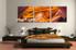 3 piece canvas wall art, bedroom art, landscape large canvas, orange landscape multi panel canvas, oil paintings landscape art