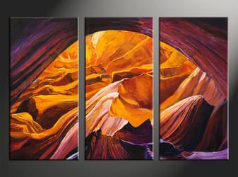 3 piece photo canvas, home decor artwork, orange landscape multi panel canvas, oil paintings landscape canvas photography