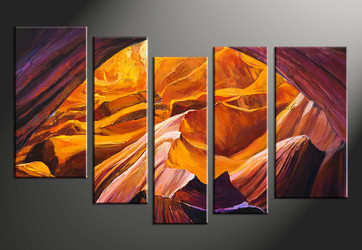 5 piece large pictures, home decor wall art, orange landscape canvas photography, oil paintings landscape décor