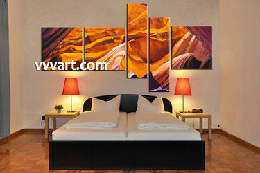 5 piece canvas wall art, bedroom landscape artwork, landscape pictures, oil paintings landscape canvas art, landscape artwork