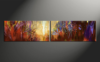 2 piece canvas photography, home decor art, colorful scenery huge pictures, scenery oil paintings wall decor