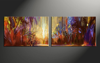 2 piece canvas photography, home decor artwork, colorful scenery photo canvas, oil paintings scenery canvas photography