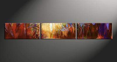 3 piece canvas wall art, home decor art, colorful scenery canvas wall art, scenery oil paintings pictures