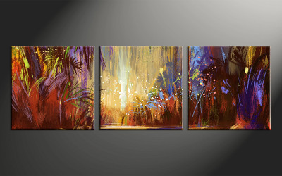 home decor, 3 piece wall art, scenery pictures, scenery art, colorful scenery large pictures, scenery oil paintings artwork