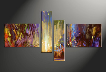 4 piece canvas photography, home decor art, colorful scenery huge pictures, scenery oil paintings wall decor