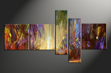 5 piece multi panel art, dining room canvas photography, colorful scenery wall art, scenery oil paintings large pictures