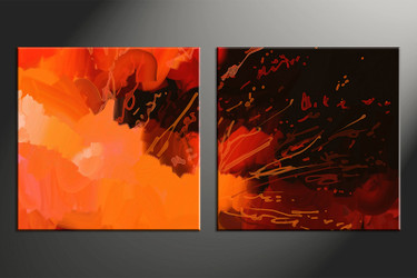 home decor art, 2 piece canvas art, abstract canvas art, abstract group canvas, oil paintings abstract pictures