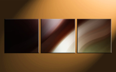 3 piece large canvas, home decor artwork, brown modern large pictures, modern oil paintings art