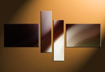 4 piece canvas photography, home decor artwork, modern photo canvas, brown modern canvas photography, modern oil paintings art