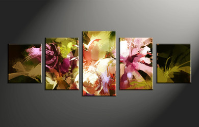 5 piece canvas art, home decor artwork, floral photo canvas, oil paintings floral canvas photography