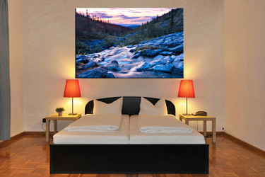 bedroom decor,1 piece canvas wall art, landscape blue canvas wall decor, landscape canvas prints, landscape canvas photography