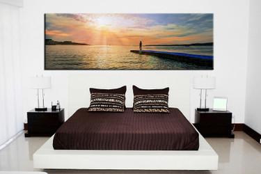 1 piece canvas wall art, bedroom ocean artwork, ocean pictures, ocean canvas print, ocean artwork