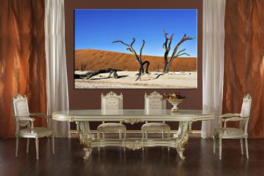 dining room decor, 1 piece wall art, landscape pictures,  landscape wall decor, landscape blue canvas print