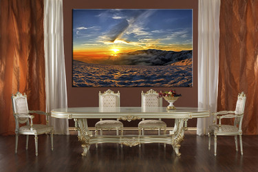 1 piece huge pictures, dining room canvas photography, landscape wall art, landscape blue large pictures