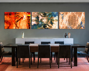 3 piece large canvas, dining room canvas wall art, abstract  artwork, brown abstract huge pictures, abstract art