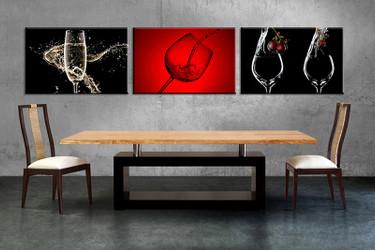 dining room wall decor, 3 piece wall art, wine multi panel art, wine huge pictures, wine pictures