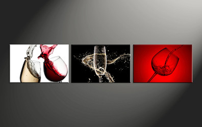 3 piece photo canvas, home decor artwork, wine multi panel canvas, wine canvas photography