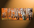 3 piece canvas wall art, panoramic canvas print, scenery large pictures, home decor