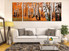 3 piece canvas photography, living room wall decor, scenery canvas print, panoramic artwork