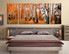 3 piece wall art, panoramic large pictures, scenery group canvas, bedroom multi panel art