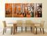 3 piece huge pictures, dining room large canvas, panoramic canvas art prints, scenery art, orange multi panel art
