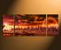 3 piece canvas print, orange home decor, landscape huge pictures, panoramic canvas photography