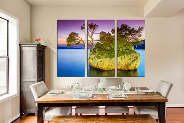 3 piece large pictures, ocean multi panel canvas, sea huge pictures, ocean canvas wall art, dining room art