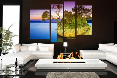 4 piece multi panel canvas, living room huge canvas print, ocean large pictures, sea artwork