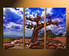 3 piece canvas wall art, home decor, scenery canvas print, blue wall art, tree artwork
