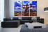 3 piece group canvas, living room canvas art prints, scenery large canvas, blue art, tree multi panel canvas