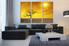3 piece multi panel art, yellow canvas photography, living room huge canvas art, scenery large canvas
