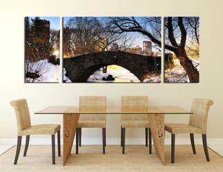 3 piece canvas wall art, dining room artwork, scenery group canvas, nature multi panel canvas