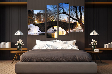 4 piece group canvas, bedroom wall art, scenery group canvas, nature decor, scenery artwork