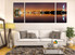 3 piece huge pictures. living room canvas print, living room large canvas, brown city group canvas, panoramic art