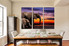 3 piece photo canvas, dining room canvas wall art, elephant huge pictures, animal artwork, wildlife art