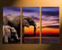 3 piece group canvas, elephant multi panel art, animal canvas wall art, wildlife canvas photography, home decor