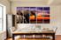 5 piece photo canvas, dining room canvas print, wildlife canvas wall art, animal multi panel canvas