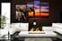 4 piece canvas print, living room multi panel art, elephant huge canvas print, animal photo canvas