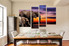4 piece group canvas, dining room canvas photography, elephant large pictures, animal artwork, wildlife decor