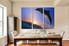 3 piece group canvas, dolphin wall decor, blue sky artwork, wildlife canvas print, animal art