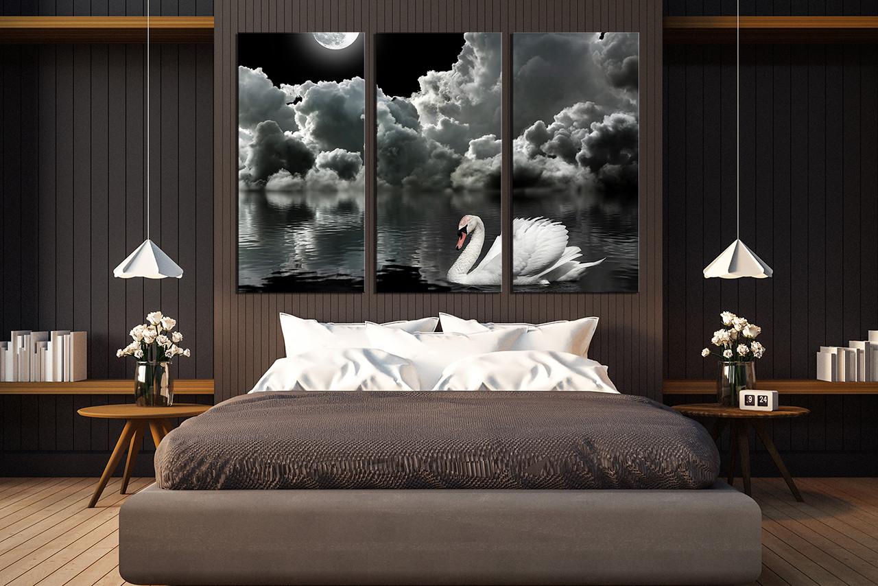3 piece canvas wall art grey photo canvas cloud wall decor white rh vvvart com bedroom canvas art ideas diy bedroom canvas art