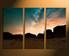 3 piece canvas wall art, brown wall decor, mountain canvas print, landscape huge canvas art, home decor