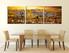 3 piece photo canvas, dining room wall decor, zebra huge canvas print, wildlife artwork, animal art