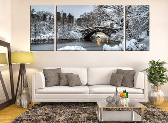 3 piece group canvas, living room artwork, scenery canvas photography, snow scenery art, scenery multi panel art